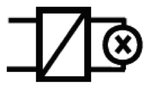 Electronic step-down converter Symbol